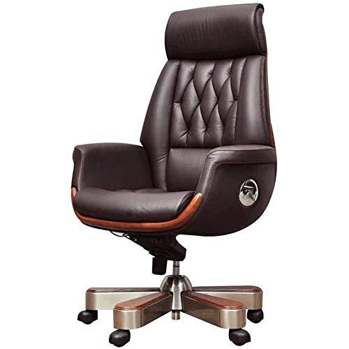 WNN-URG Bürostuhl aus Leder Chefsessel Studie Sessellift Reclining Drehstuhl Leder Art Stuhl Mode Ergonomischer Stuhl Büro Boss Stuhl URG