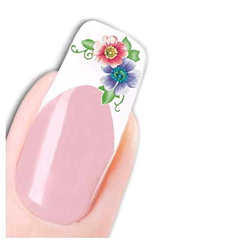 Just Fox – Stickers Nail Art pour ongles véritable fleur de vie Butterfly Pied Stickers water decal