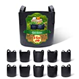 Gardzen 10-Pack 5 Gallon Grow Bags, BPA Free Aeration Fabric Pots with Handles