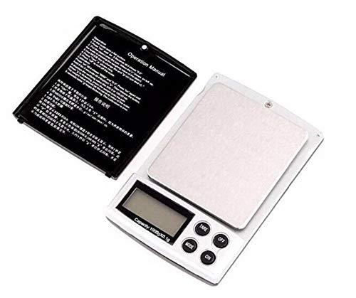 Smart Digital Báscula con Super Mini joyería de bolsillo digital Sclae pantalla LCD Diamante que pesa balanza electrónica 0.01g 1000g-0.1g