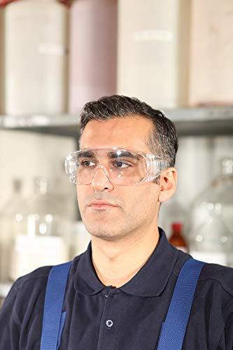 Dräger Schutzbrille X-pect 8110   Überbrille auch für Brillenträger   Für Baustelle, Labor, Werkstatt und Fahrrad-Fahren   Leicht, klar und mit indirekter Belüftung   1 St. - 6
