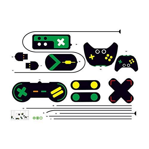 Kreative Spielkonsole Spiel Griff DIY Wandaufkleber Vinyl Internet Cafe Studie Computertisch Hintergrund Home Decor Wandbild Aufkleber