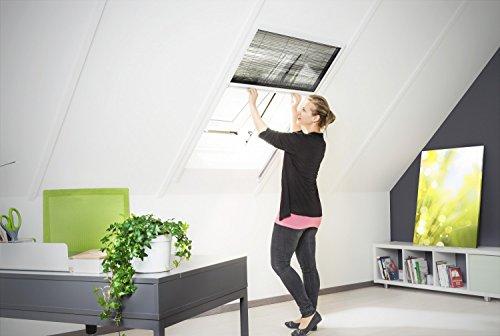 Insektenschutz Fliegengitter Dachfenster Plissee \'Master\' Alurahmen verschiedene Größen in weiß und braun als Selbstbausatz