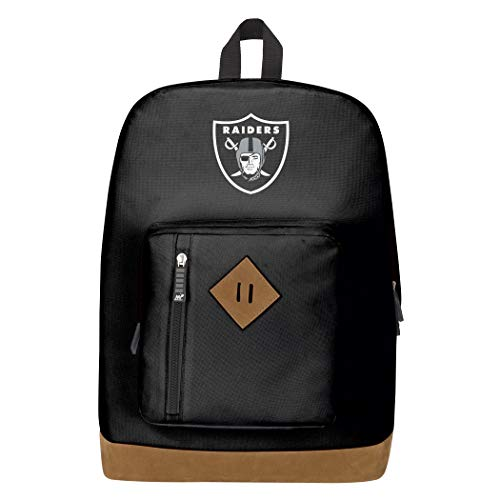 Officially Licensed NFL Oakland Raiders 'Playbook' Backpack, Black, 18' x 5' x 13'