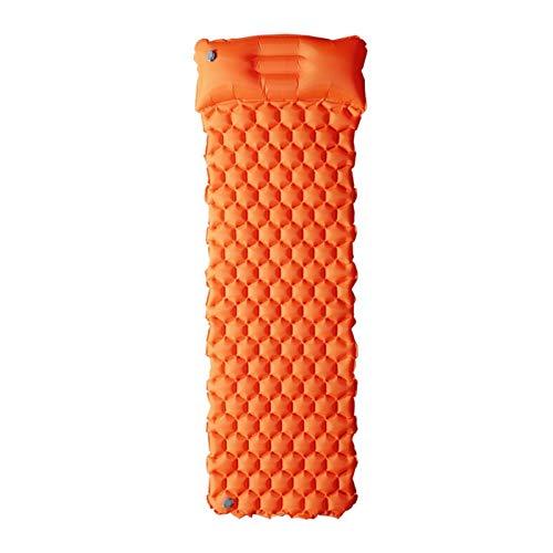 PrittUHU Colchón de Aire de la Estera de Playa Inflable colchón de Picnic con Almohada Bolsa de Dormir cojín sofás sofás Inflable Almohadilla Dormir (Color : Orange)
