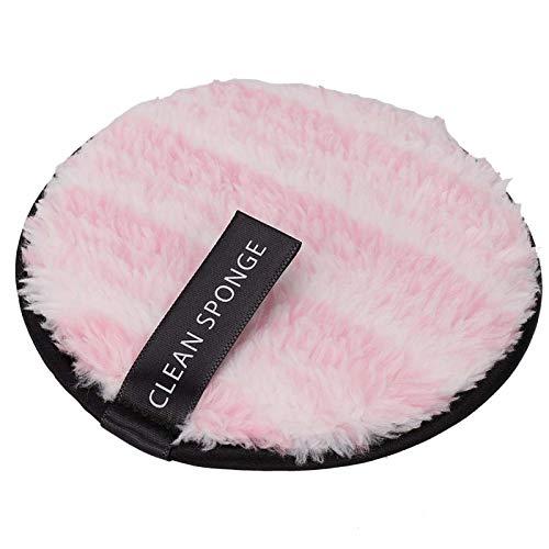 Herbruikbare cosmetica-pads Makeup Remover Puff Face Cleaning Wattenschijfjes voor thuisgebruik voor dagelijks gebruik(Pink)