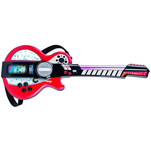 Simba 106838628 - My Music World Light Guitar mit MP3 Funktion