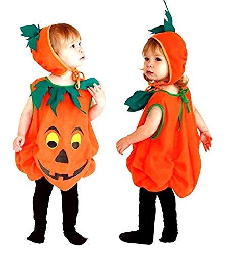 Disfraz de calabaza - disfraz - carnaval - halloween - vegetal - color naranja - niño - talla s - 2/3 años - idea de regalo para cumpleaños