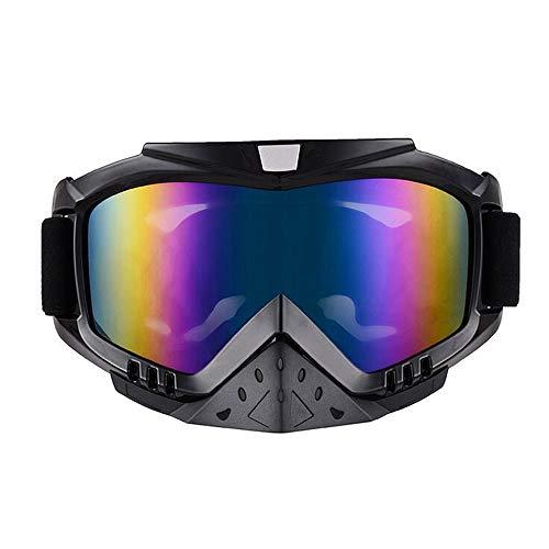 MWJK® Occhiali da Sci Protezione UV Antipolvere Antivento Antivento Regolabile per Adulti Occhiali da Sci per Esterni