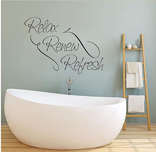 Sticker Decals Behang 52Cm*37.8Cm Relax Vernieuwen muur Home Decor PVC Quote Inspiratie Muursticker