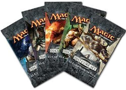 5 (Five) Packs of Magic the Gathering - MTG  2012 Core Set M12 Booster Pack L... by Magic  the Gathering