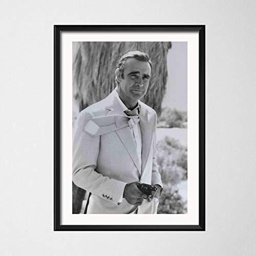 zhuifengshaonian Poster e Stampe Sean Connery 007 Classic Movie Canvas Painting Immagini a Parete per Soggiorno Decorazioni per la casa Vintage(Zt-90) Nessuna Cornice Poster 50x70cm
