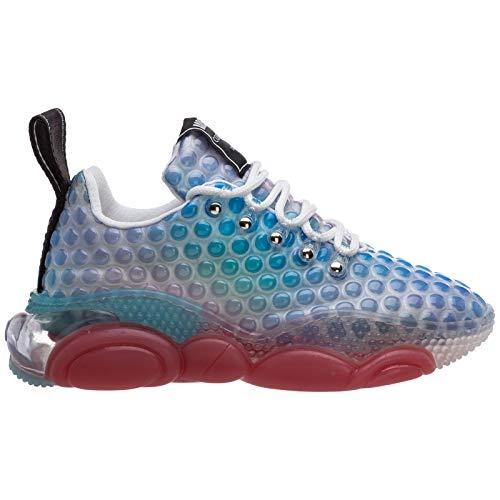 Moschino Damen Bubble Teddy Sneaker blu 39 EU
