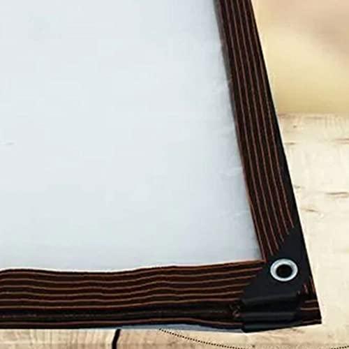 Telone di Protezione - Telo Occhiellato in PVC - Telone Trasparente Antistrappo - Antipioggia Copertura da Esterno Telone di Impermeabile per Coprire, Proteggere Telone,Clear,4x4m/13x13'