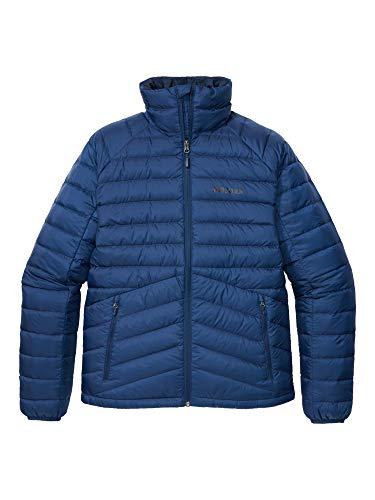 Marmot Herren Ultra-leichte Daunenjacke, 700 Fill-Power, Warme Outdoorjacke, Wasserabweisend, Winddicht Highlander Down Jacket, Arctic Navy, S, 79410
