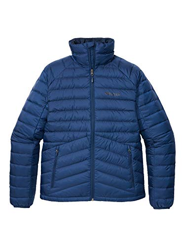 Marmot Highlander Down Jacket Piumino Leggero Isolante, Densità Dell'imbottitura 700, Giacca da Esterno, Giacca Impermeabile Idrorepellente, Antivento, Uomo, Arctic Navy, XL