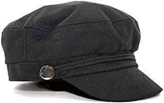 0ae5ca818cbc13 accsa Women Bakerboy Wool Blend Fashion Black/Grey Cabbie Newsboy Beret Cap