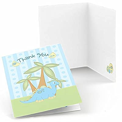 Baby Dinosaur - Baby Shower or Birthday Party Thank You Cards (8 count) from Big Dot of Happiness, LLC