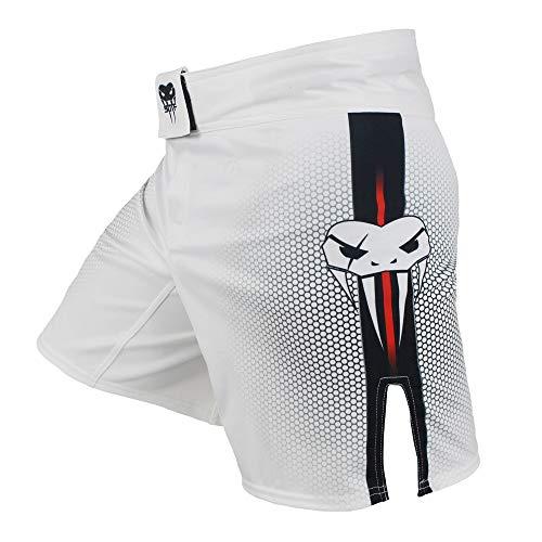 LIUXING-Home Kämpfe Shorts Herren Shorts Boxen Kampf Martial Arts Sanda Professionelle Wettbewerb Training Laufende Sport Fitness weiß Trainingshorts-Kostüm (Color : White, Size : XS)