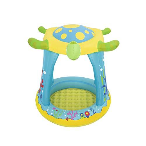 Groust Piscina hinchable para niños a partir de 3 años con techo solar hinchable, piscina de juegos a la sombra para niños