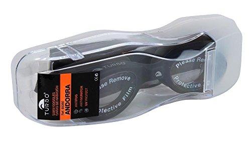Turbo Andorra - Gafas anticloro de natación, Color Negro