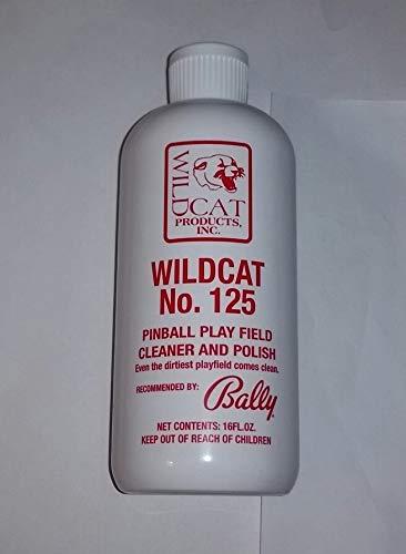 wildcat #125 pinball machine playfield cleaner & polish