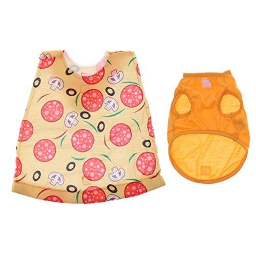 joyMerit Halloween Polyester Hunde Katzen Warme Kostüme Mantel Pizza Mantel Für Teddy Chihuahua - L