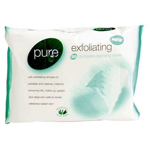 PURE EXFOLIATING WIPES 2 PACKS OF 20 WIPES