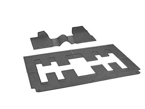 Passgenaue RIGUM Gummifußmatten geeignet für Ford Custom 8/9-Sitzer 2/3+3+3 ab 2018