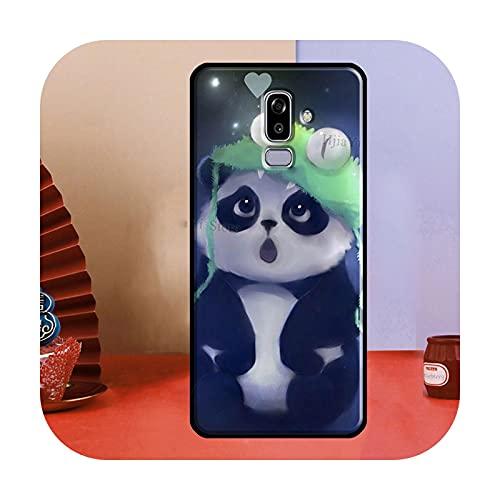 Cute Cartoon Panda para Samsung Galaxy A3 A5 J1 J3 J5 J7 2016 2017 J4 J6 A6 A8 Plus A7 A9 J8 2018 Funda para teléfono CC474-A8 2018
