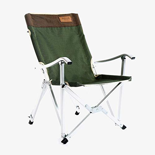MJY Outdoor Ultraleicht Aluminium Klapp Camping Stuhl Sessel Angelstuhl Lounge Stuhl mit Taschen Haushalt Tragbare Mittagspause Chair-Load120Kg-Outdoor-Aktivitäten, Camping, Grill,