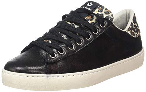 Victoria Deportivo Brillo/Leopardo, Zapatillas para Mujer, Negro (Negro 10), 39 EU