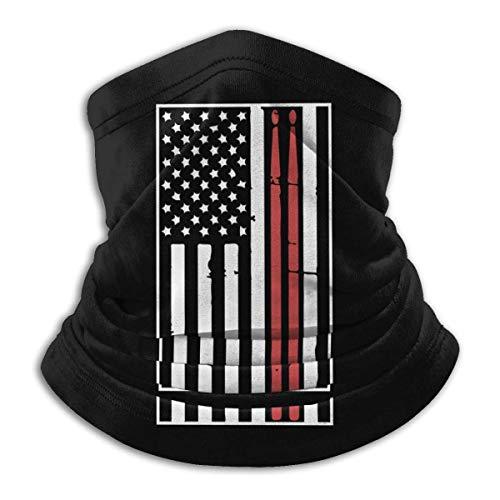 Bklzzjc Neck Gaiter Warmer Drapeau Américain Pilons Hommes Femmes Neck Warmer Coupe-Vent Temps Froid Motocyclisme Travail Face Cover Neck Gaiter Headwear