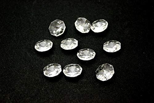 Ilab - Lote de 10 colgantes de latón y cristal de repuesto para lámpara de techo
