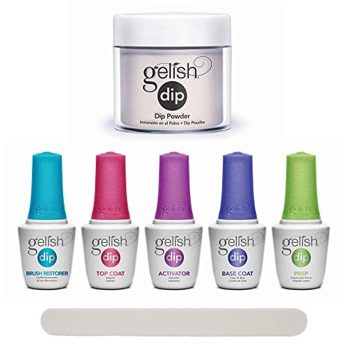 Gelish Professional Nail Dip Starter Kit with Soft Sheer Nude Color