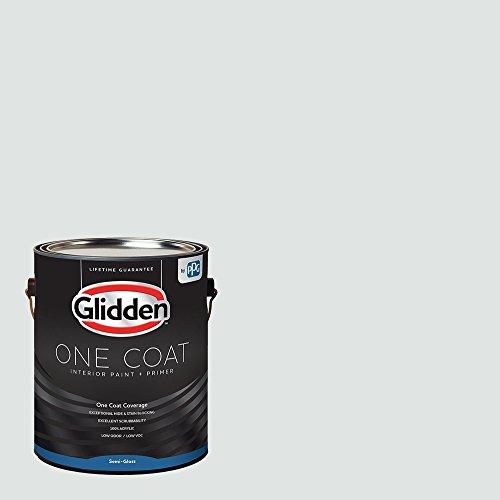 Glidden Interior Paint + Primer: Blue/Gray Glimpse, One Coat, Semi-Gloss, 1-Gallon