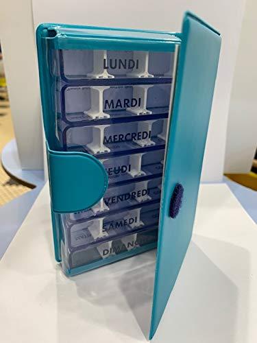 Pilulier 7 jours petit modèle Turquoise Medidose - 1 pilulier