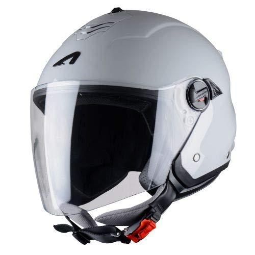 Astone Helmets Mini Jet, Casco Jet, color Negro Mate, talla M