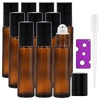 Haute qualité et sûr : nos bouteilles en verre ambré sont fabriquées en verre résistant à la corrosion avec une épaisseur, une douceur et une résistance aux chocs. Les bouteilles d'huile essentielle d'ambre classiques peuvent empêcher l'huile essenti...