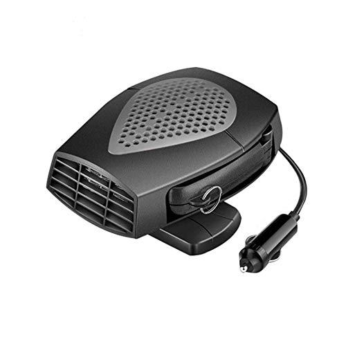 Tragbare Autoheizung, MoreChoice 12V 150W Heizung Schnell Abtauen Defroster Universal 360 ° Drehung Autoheizungswärmer Entfeuchter mit Heiz/Kühlfunktion Kühlventilator Defogger,Dunkelgrau