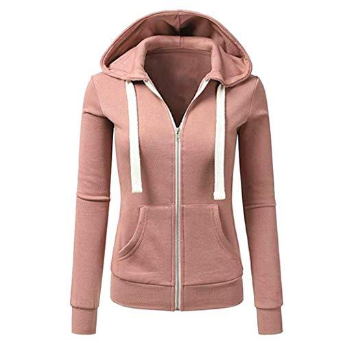 Damen koly-lady jacke hoodie rosa