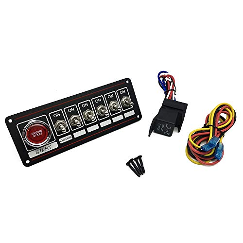 HotRod99 Racing Car Black Switch Panel 6 Toggles Max 71% OFF and 1 St New product! New type Engine