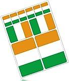 Biomar Labs® 10pcs Pegatina Bandera de Irlanda Ireland Flag Vinilo Adhesivo Coches Cascos Motos Ciclomotores Bicicletas Ordenador Portátil D 29