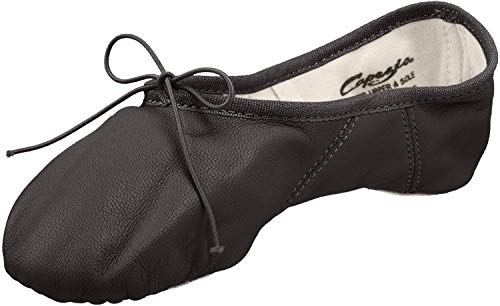 Capezio Women's Juliet Ballet Shoe, Black, 5 W US