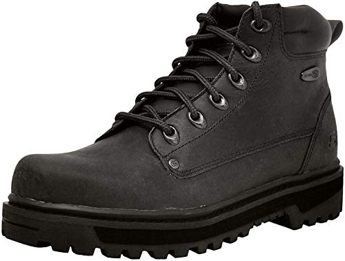 Skechers Men's Pilot Utility Boot,Black,9.5 M US