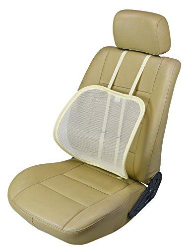 ObboMed SM-7400 Extra grote verstelbare ergonomisch gevormde ademende rugleuning zitkussen voor houdingscorrectie tijdens het zitten, voor voertuig, op kantoor of thuis Sm-7400c: Crè