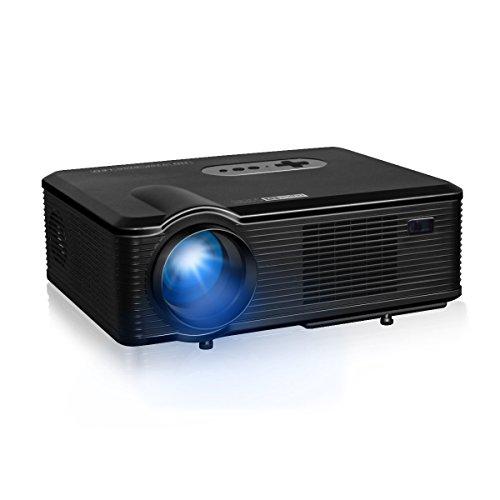 """Excelvan CL760 LED Proyector 1080P Proyector HD (3200 lúmenes 1280 x 800, Proyección 33"""" - 150"""", 4: 3 16: 9, Interfaz"""