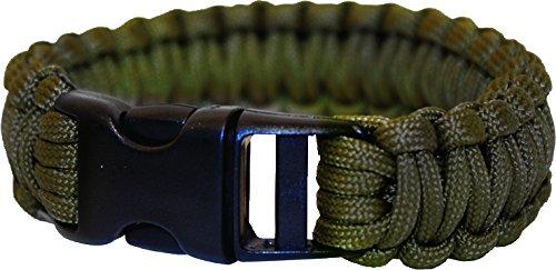 Adventure BCB Bracelet en PaRACORDE avec Boucle en Plastique (Olive)