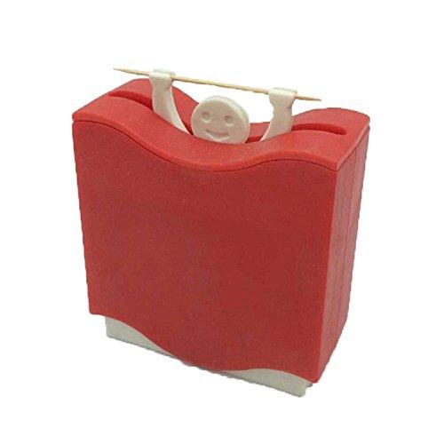 PU Ran 1 PC cure-dents automatique Support Dessin animé Hercules Box Home Accessoires Container – Couleur aléatoire