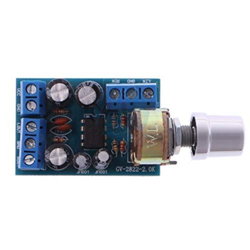 Piccole dimensioni DC 1.8-12V TDA2822M 2.0 canali Stereo Mini AUX Amplificatore audio Modulo scheda AMP Parti del modulo - Blu e verde